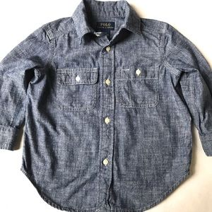 Polo Ralph Lauren Boys Dark Blue Chambray Shirt